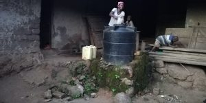 The Water Project:  Water Storage Container At Home