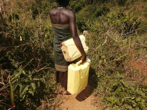 The Water Project:  Carrying Containers To Fill With Water