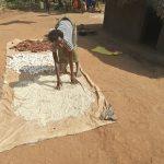 The Water Project: Ejinga Taosati Community -  Drying Millet And Corn
