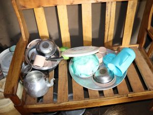 The Water Project:  Utensils Placed On A Chair To Dry