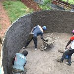 The Water Project: Gamalenga Primary School -  Tank Plastering
