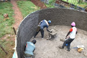 The Water Project:  Tank Plastering