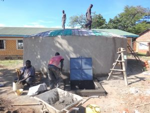 The Water Project:  Dome Cut To Size And Access Point Work