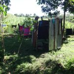The Water Project: Mahira Community, Kusimba Spring -  Bathing Shelter And Clothesline