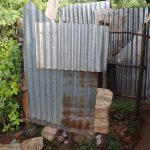 The Water Project: Harambee Community, Elijah Kwalanda Spring -  Bathing Shelter