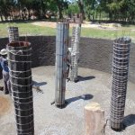 The Water Project: Friends Secondary School Shirugu -  Tank Pillars Underway