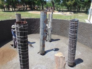 The Water Project:  Tank Pillars Underway