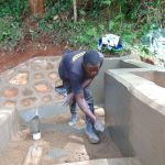 The Water Project: Chepnonochi Community, Shikati Spring -  Stair Construction And Plastering