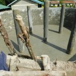 The Water Project: Makale Primary School -  Pillar Plaster Drying
