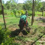 The Water Project: Mahira Community, Jairus Mwera Spring -  Garbage Collection And Compound Cleaning
