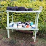 The Water Project: Harambee Community, Elijah Kwalanda Spring -  Dishrack