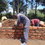 The Water Project: Friends School Mahira Primary -  Kenya Building Latrine Walls