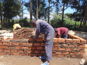 The Water Project:  Kenya Building Latrine Walls