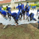 The Water Project: Makale Primary School -  Students Help Knit Dome Structure