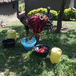 The Water Project: Mahira Community, Jairus Mwera Spring -  Washing Clothes