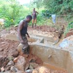The Water Project: Chepnonochi Community, Shikati Spring -  Clay Works In Backfilling