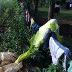 The Water Project: Mahira Community, Jairus Mwera Spring -  Clothes Drying
