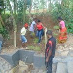 The Water Project: Bukhaywa Community, Ashikhanga Spring -  Grass Planting