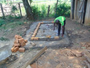 The Water Project:  Brick Work At The Latrines