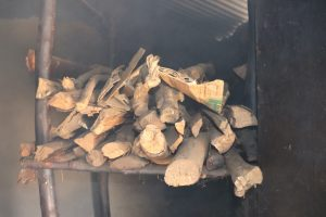 The Water Project:  Firewood Storage In The Kitchen