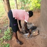 The Water Project: Harambee Community, Elijah Kwalanda Spring -  Fireplace Outside House