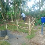 The Water Project: Bukhaywa Community, Ashikhanga Spring -  Fencing