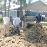 The Water Project: St. Peter's Khaunga Secondary School -  Preparing Construction Materials