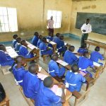 The Water Project: Makale Primary School -  Sanitation Teacher Addresses Pupils At Training