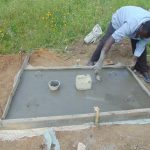 The Water Project: Bukhaywa Community, Ashikhanga Spring -  Sanitation Platform Work