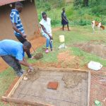 The Water Project: Chepnonochi Community, Shikati Spring -  Sanitation Platform Construction