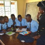 The Water Project: St. Peter's Khaunga Secondary School -  Trainer Lynah Listens In To Group Discussion