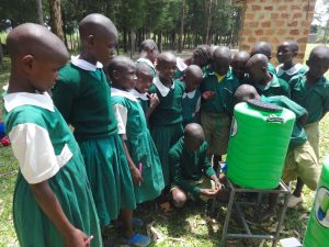 The Water Project:  Students Try Out The Handwashing Station