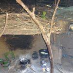 The Water Project: Mahira Community, Jairus Mwera Spring -  Firewood Store