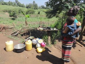 The Water Project:  Alice Mwera At Her Dishrack