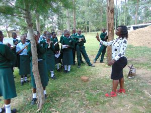 The Water Project:  Facilitator Laura Takes Students Through Training
