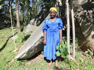 The Water Project:  Alice Kusimba Spring Landowner