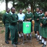 The Water Project: Friends Kuvasali Secondary School -  Handwashing Demonstrations