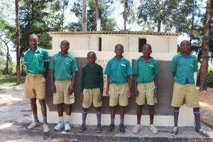 The Water Project:  Gents Posing Outside Their New Latrines