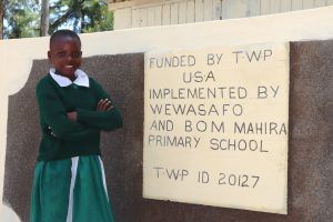 The Water Project:  Young Girl Poses With Her New Latrines