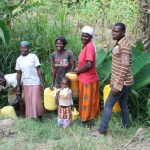 The Water Project: Litinye Community, Shivina Spring -  Community Members At The Spring