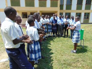 The Water Project:  Lydia Leads Handwashing Demonstration