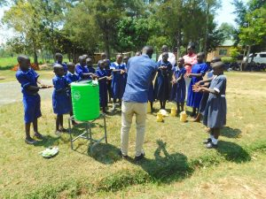 The Water Project:  Demonstrating Handwashing Steps
