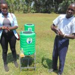 The Water Project: Friends Secondary School Shirugu -  Pupil And Facilitator Demonstrate Handwashing