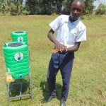 The Water Project: Friends Secondary School Shirugu -  Student Elvis Demonstrates Handwashing