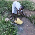 The Water Project: Mukhuyu Community, Chisombe Spring -  Collecting Water From Chisombe Spring
