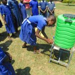 The Water Project: Makale Primary School -  Student Demonstrates Handwashing