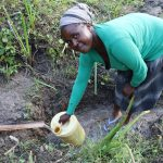 The Water Project: Mukhonje Community, Mausi Spring -  Grace Collects Water At Mausi Spring