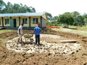 The Water Project:  Stone Foundation Laying