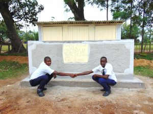 The Water Project:  Boys Pose At New Latrines