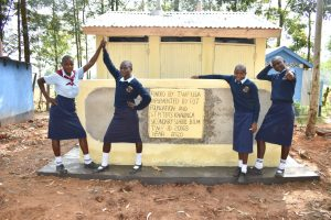 The Water Project:  Girls At Their New Vip Latrines